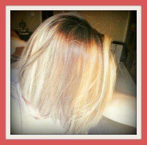 new blonde bob