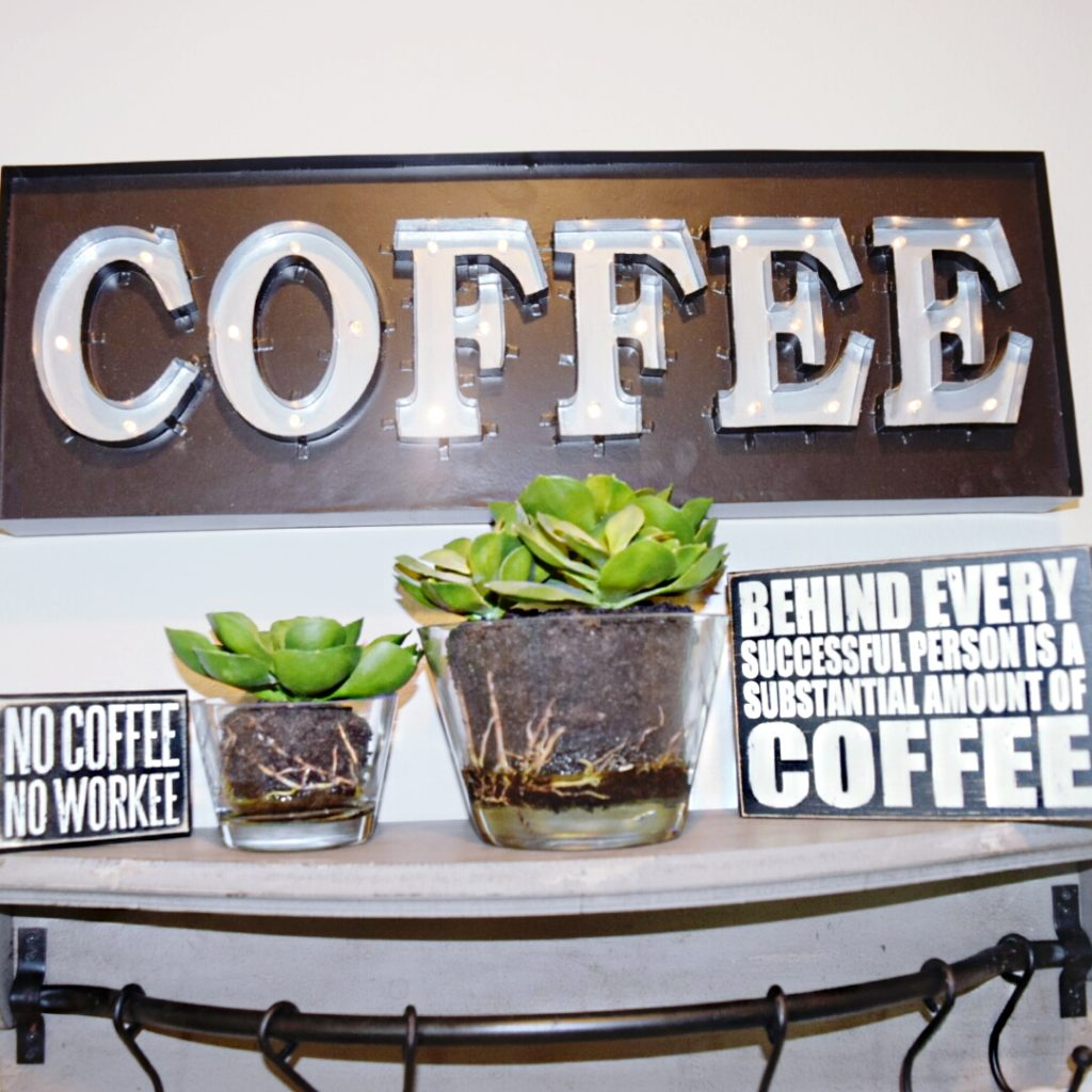 Coffee LED light up sign