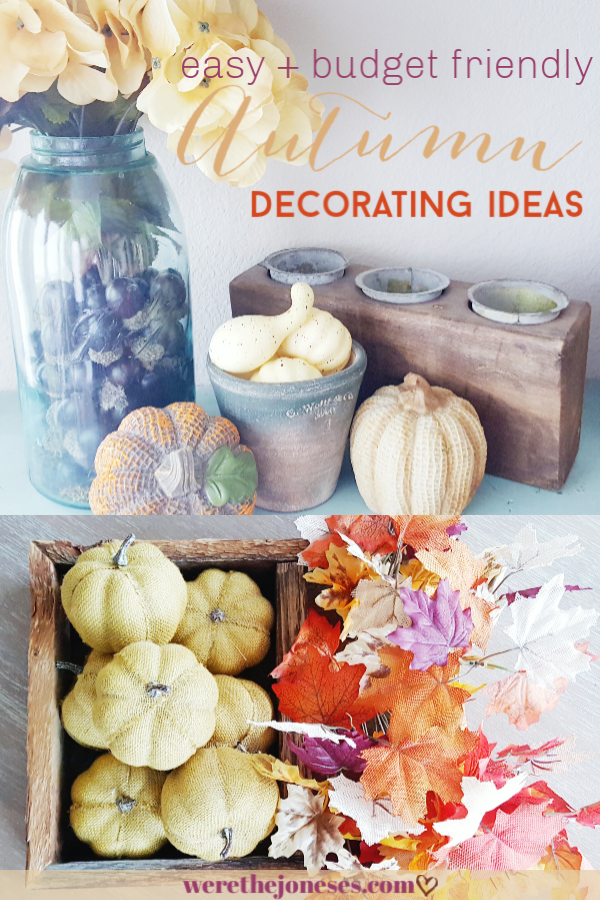 easy and budget friendly fall decor ideas with items from dollar tree