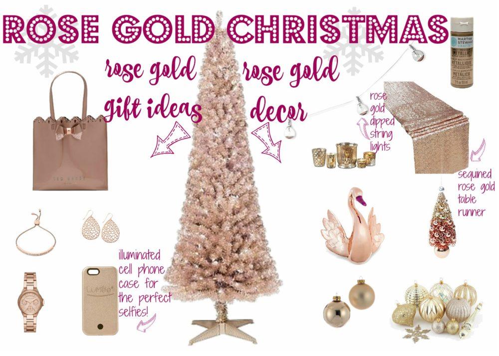 Rose Gold Christmas Decor Rose Gold Gift Ideas