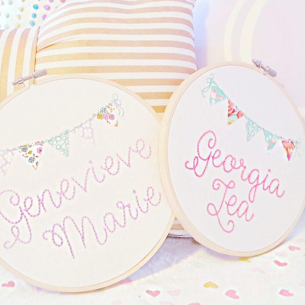 Genevieve Marie Georgia Lea Stitch Circle Sign