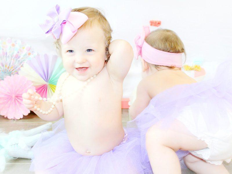 Twin Girls Cake Smash