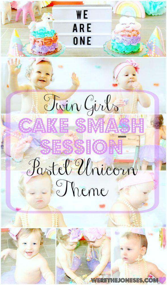 Cake Smash Twin Girls Pinterest
