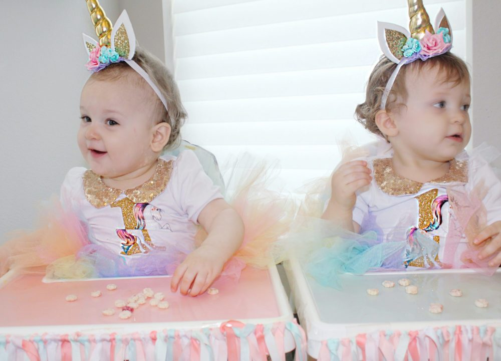 Unicorn Birthday Party Twin Girls Birthday Unicorn Cake unicorn headband unicorn birthday outfit