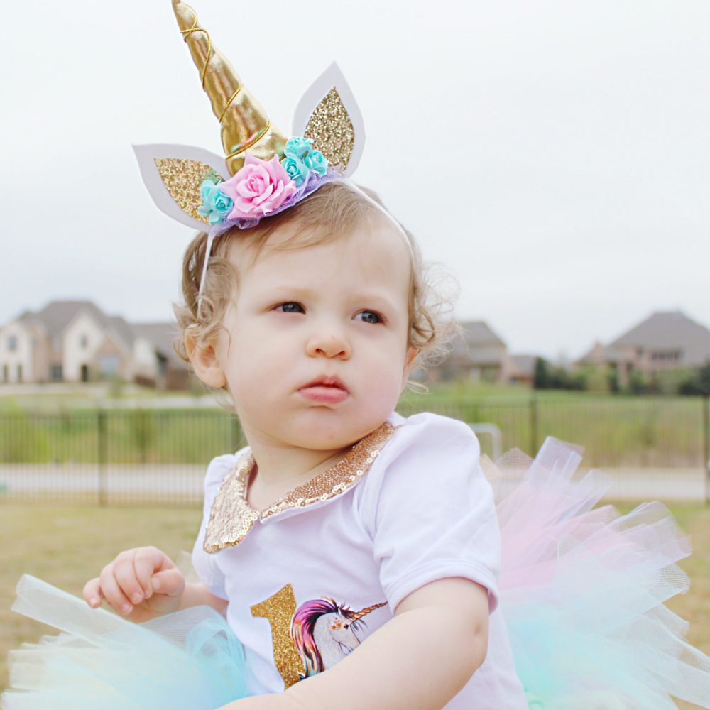 Unicorn headband unicorn birthday outfit rainbow tutu first birthday party ideas unicorn themed birthday party