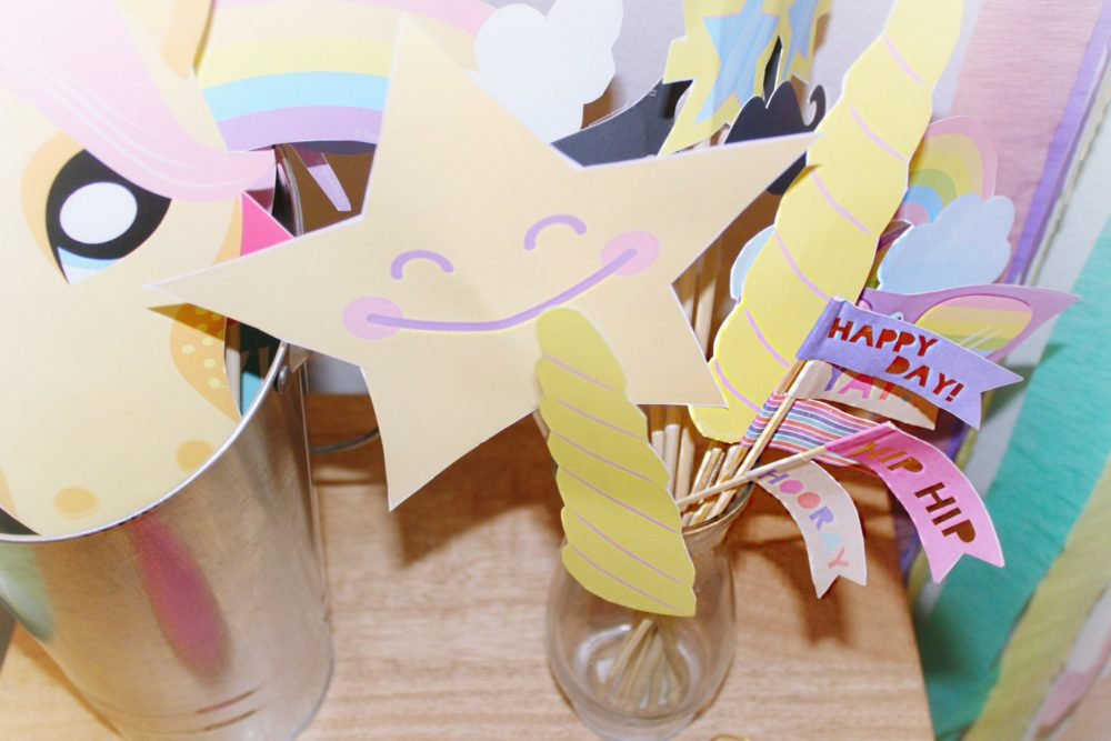 Unicorn Birthday Party Ideas Unicorn Photo Booth Props coolest unicorn party ideas