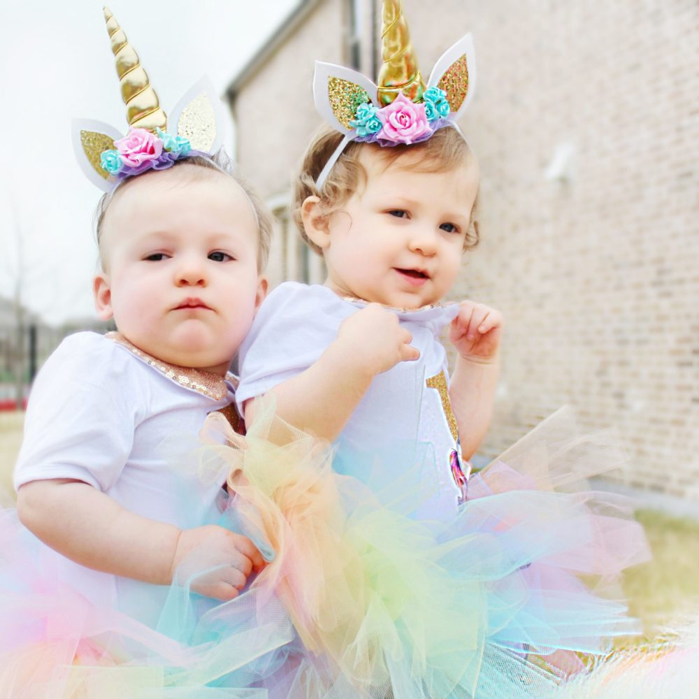 Twin Girls Unicorn Party First Birthday Party Unicorn Headband Unicorn Birthday Outfit First Birthday Outfit First Birthday Party Ideas Unicorn Themed Birthday