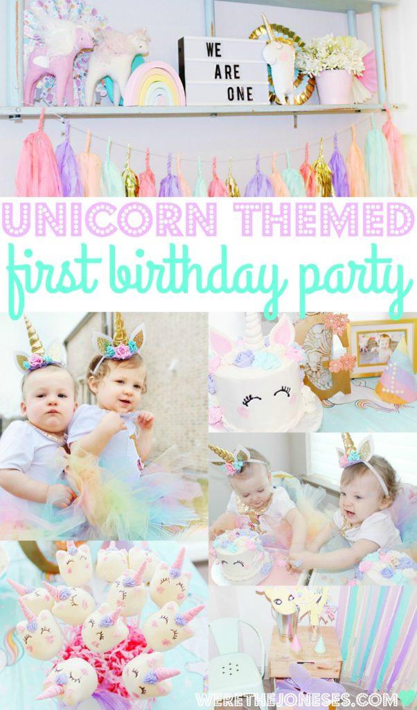 unicorn 1st birthday party decorations with a unicorn first birthday cake and unicorn headband. The coolest unicorn party ideas easy unicorn birthday party ideas best unicorn first birthday party images for twin girls first birthday unicorn party