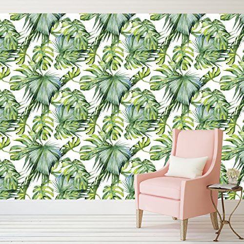 Tropical Palm Tree Pattern Peel and Stick Wallpaper