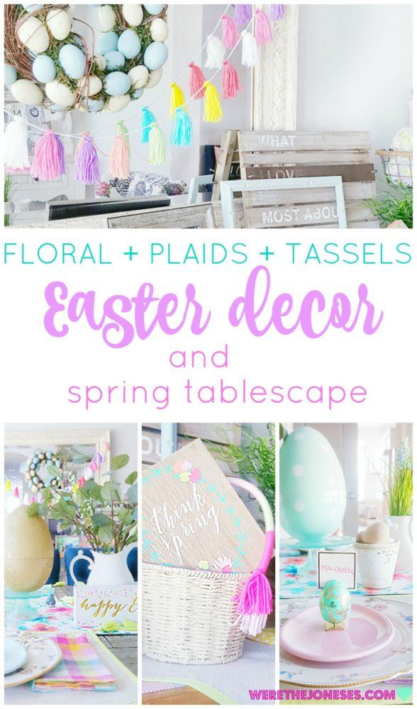 florals plaids tassels spring easter table