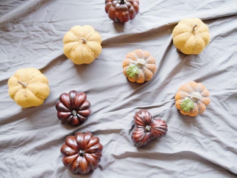 Shop Your Space Series DIY painted pumpkins