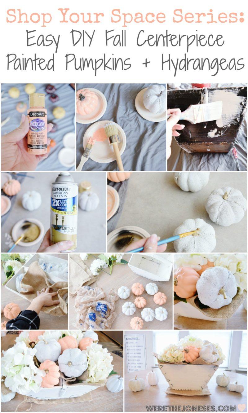 Easy DIY Fall Centerpiece Painted Pumpkins Simple Painting Tutorial