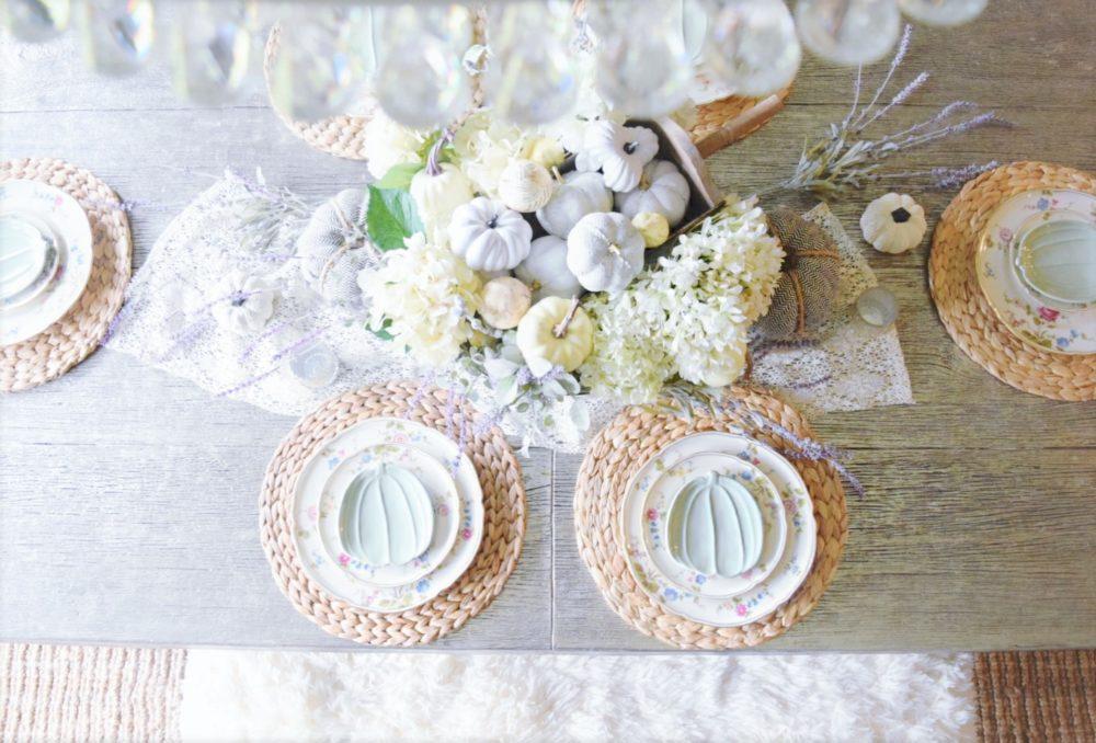 Feminine Romantic Fall Tablescape