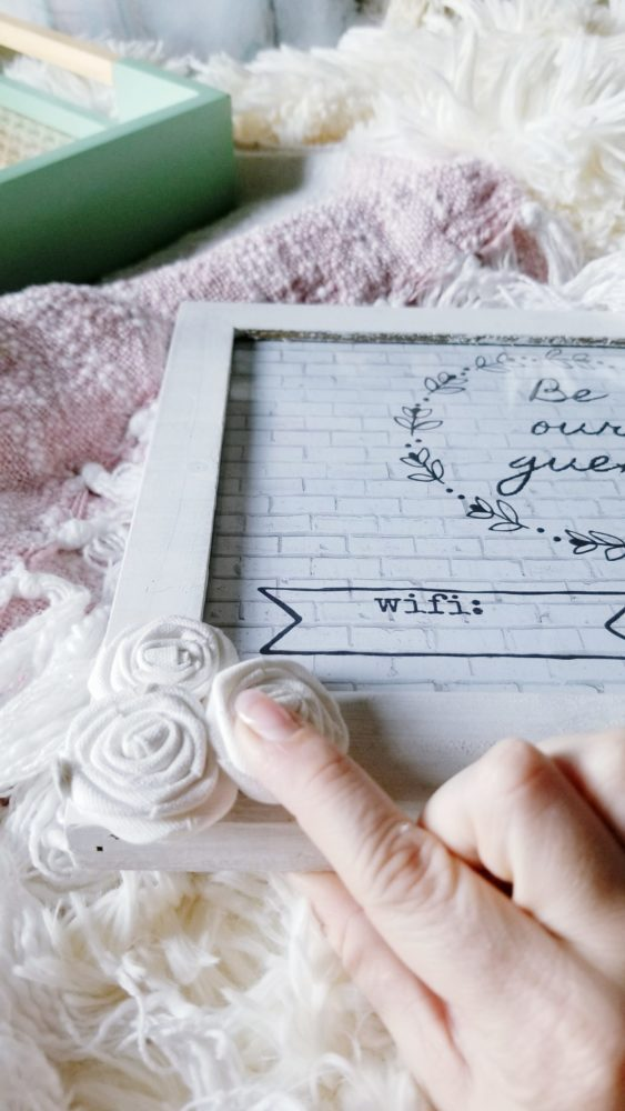 Be Our Guest Wifi Frame DIY Canvas Flower