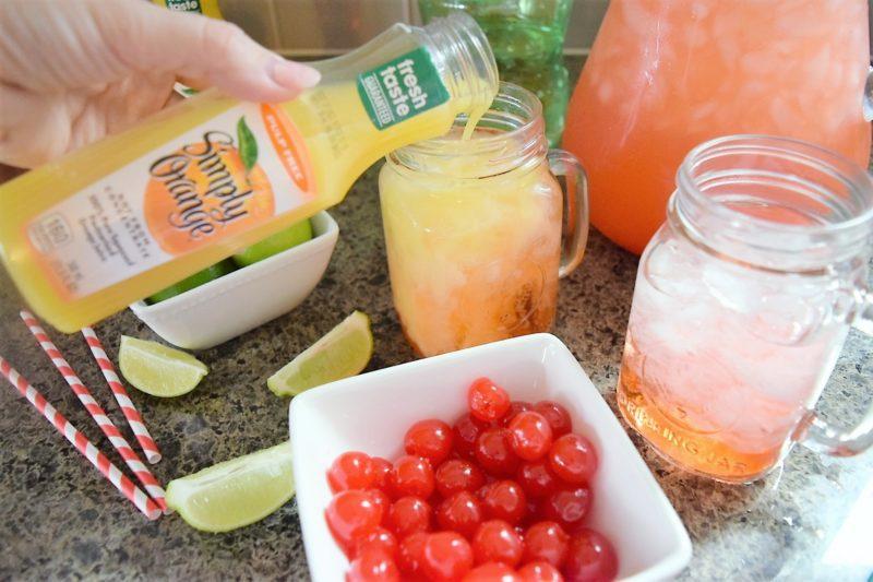 Simply Orange Juice Cherry Limeade Sunrise Drink
