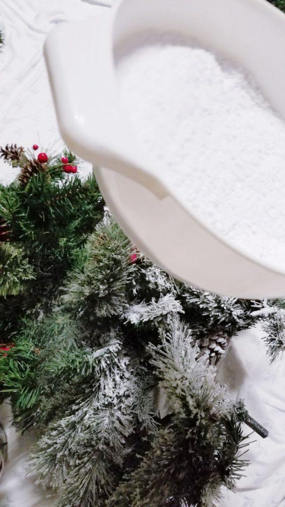 flock a Christmas tree tutorial