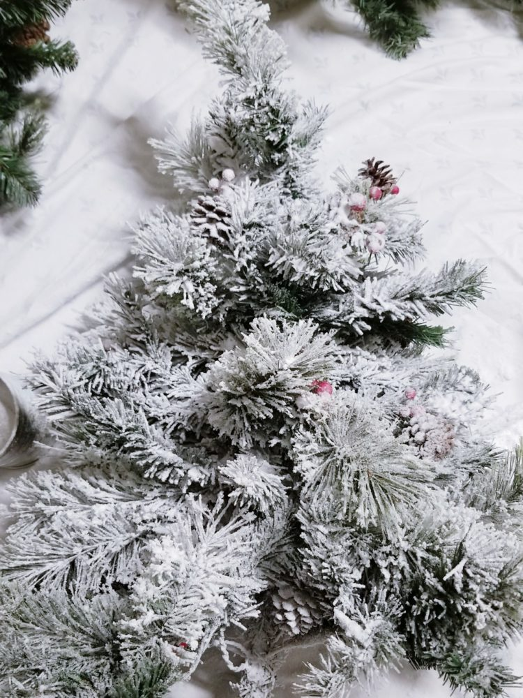 how to flock a christmas tree tutorial with step by step instructions