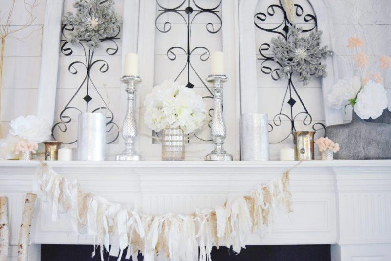 winter mantle cozy glam winter decor ideas