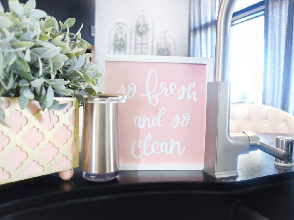 Simple human foam soap pump rose gold home decor best home upgrades kitchen accessories