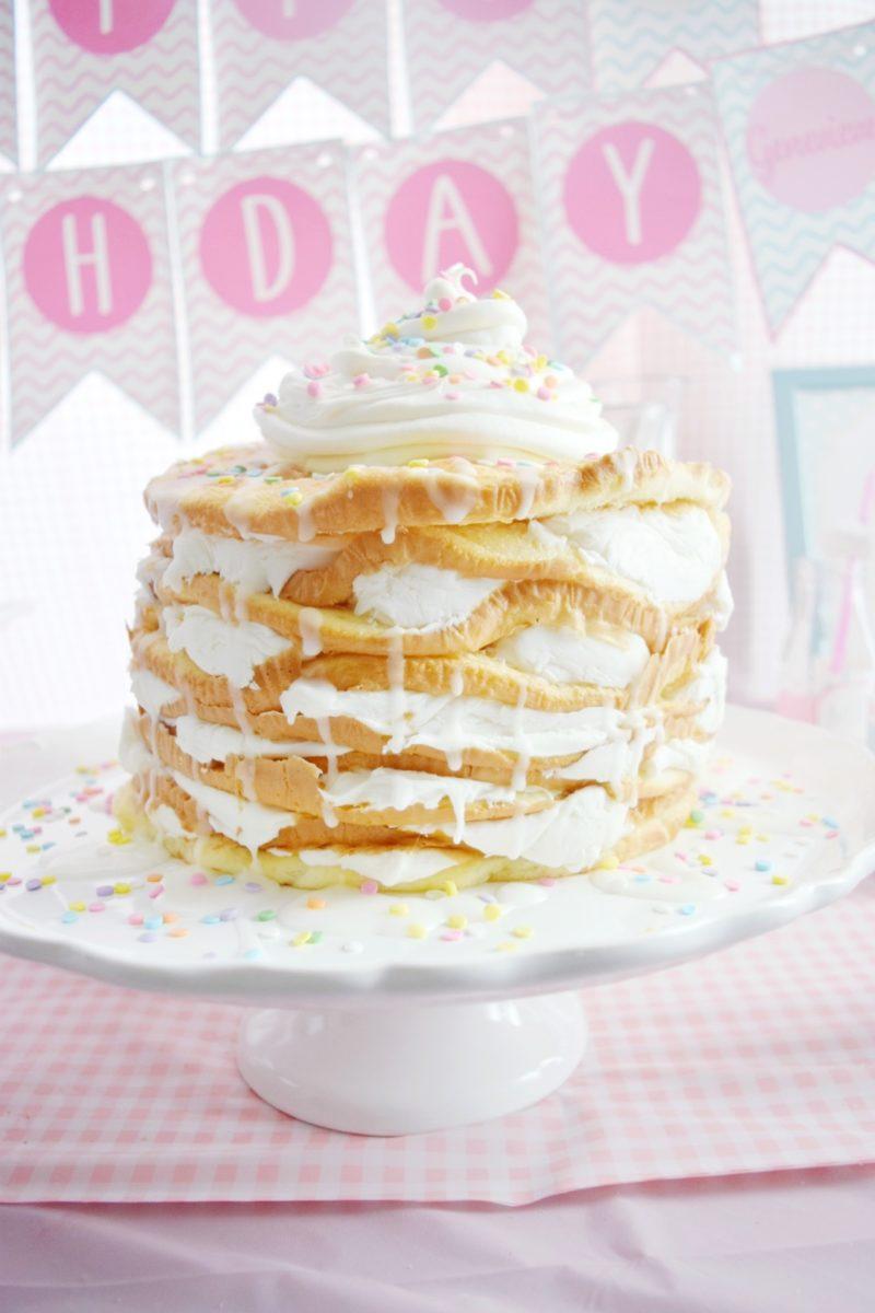 pancake and pajamas birthday party pancake birthday cake preppy pink birthday party homemade pancake birthday cake