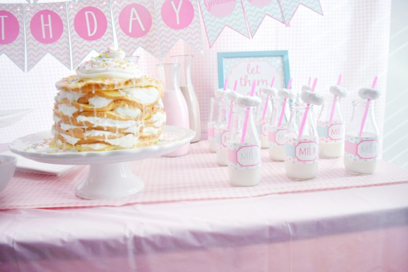 pancake and pajamas birthday party pancake birthday cake preppy pink birthday party homemade birthday cake