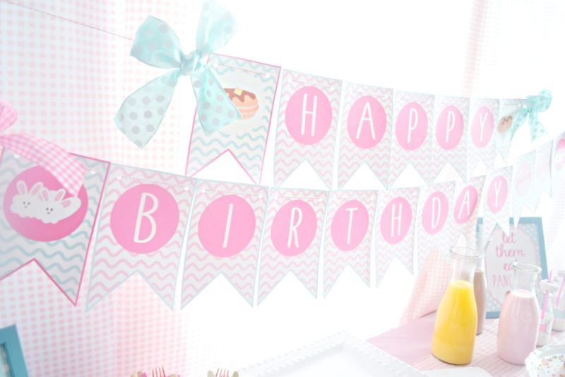 pancake and pajamas pancake bar twin birthday party preppy pink birthday ideas twin girls birthday party birthday banner