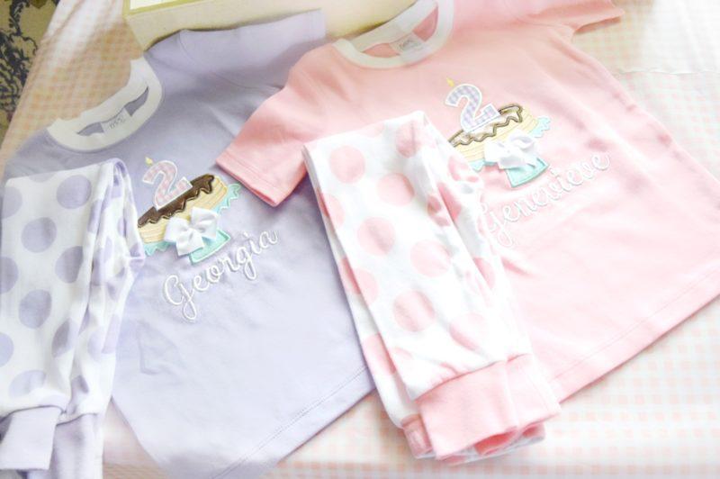 pancake and pajamas little girls birthday outfit matching twin birthday pajamas