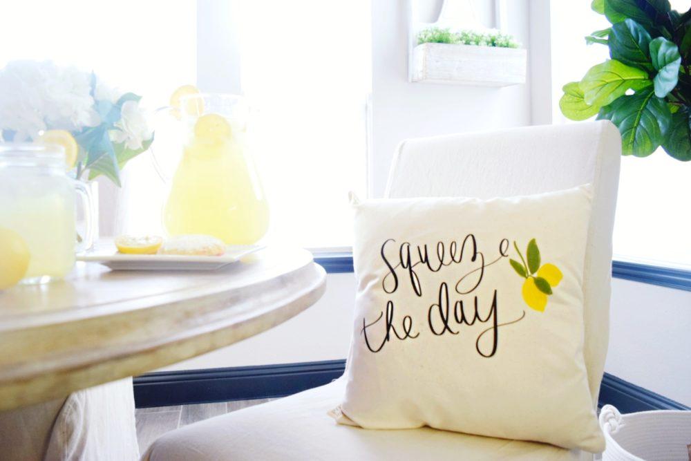 squeeze the day lemon pillow kirklands lemon decor home decorating ideas for spring lemon pillow yellow decor lemon yellow design ideas spring decor inspiration new spring line lemony yellow decorating