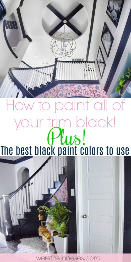 Black trim and black doors how to paint your trim and interior doors black plus the best black paint colors to use black baseboards crownmolding and trim black