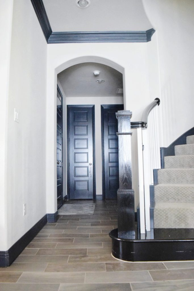 Black trim and black doors the best black paint for interior doors and trim black interior doors before and after