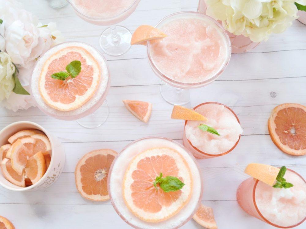 Grapefruit Frosé frozen roséFrosé recipe grapefruit frozen rose cocktail recipe