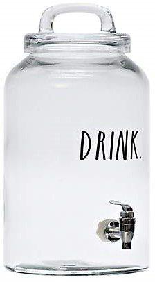 Kirkland's Rae Dunn Collection Drink Glass Beverage Dispenser Rae Dunn Line Farmhouse Party Decor