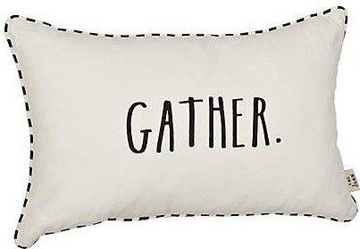 Kirklands Rae Dunn Gather Accent Pillow Rae Dunn Pillows Gather Pillow Fall Pillow Decor Farmhouse Pillows