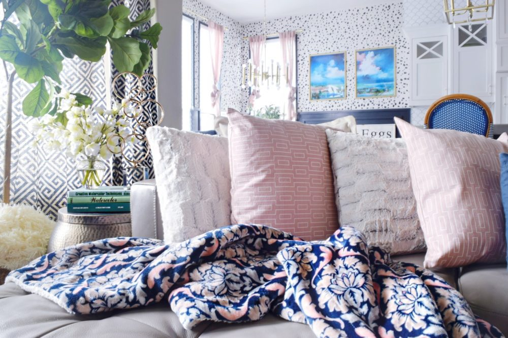 When to Splurge and When to Save Modern Coastal Feminine Living Room and Kitchen Ideas How to Decorate Your Home