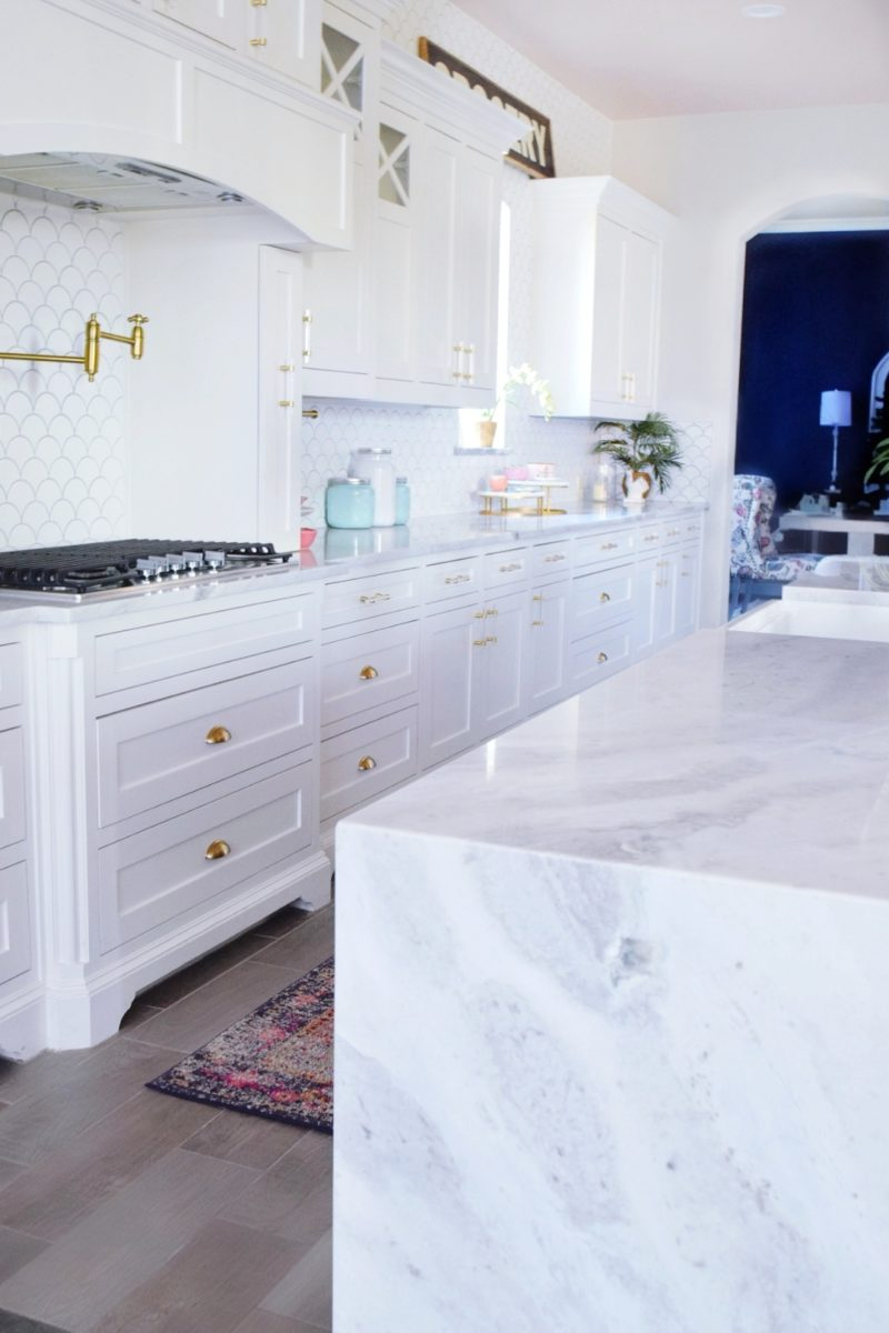 The Reveal Modern Coastal Glam Kitchen Makeover We Re The Joneses