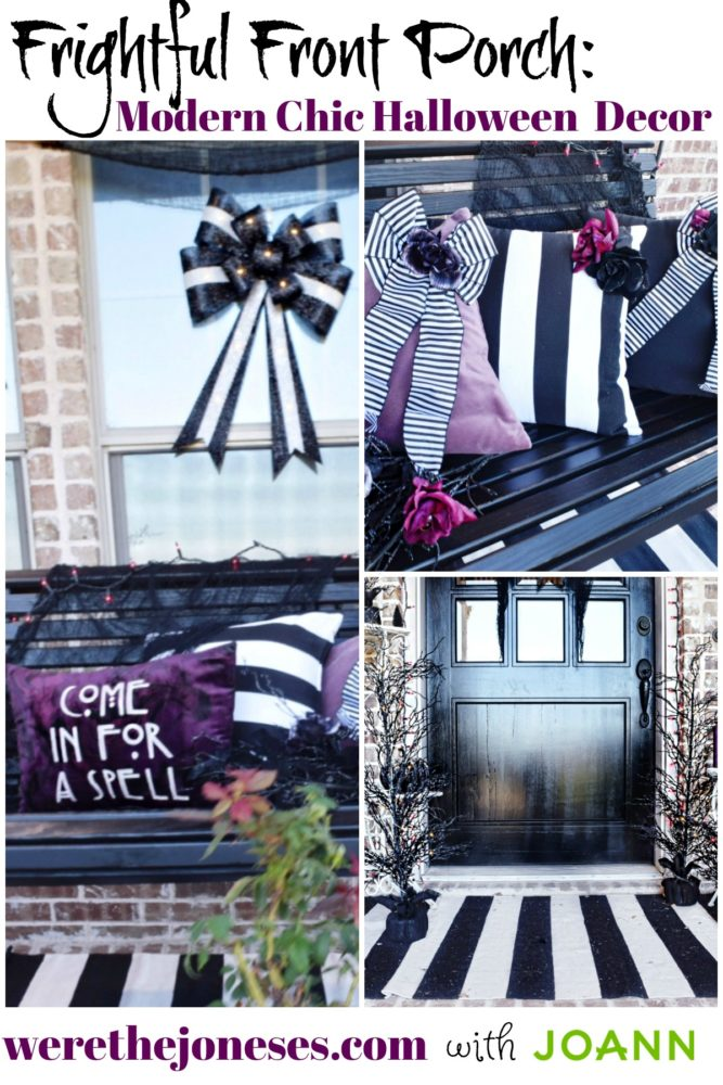 Frightful Front Porch Modern Chic Halloween Decor How to Decorate a Modern Halloween Front Porch