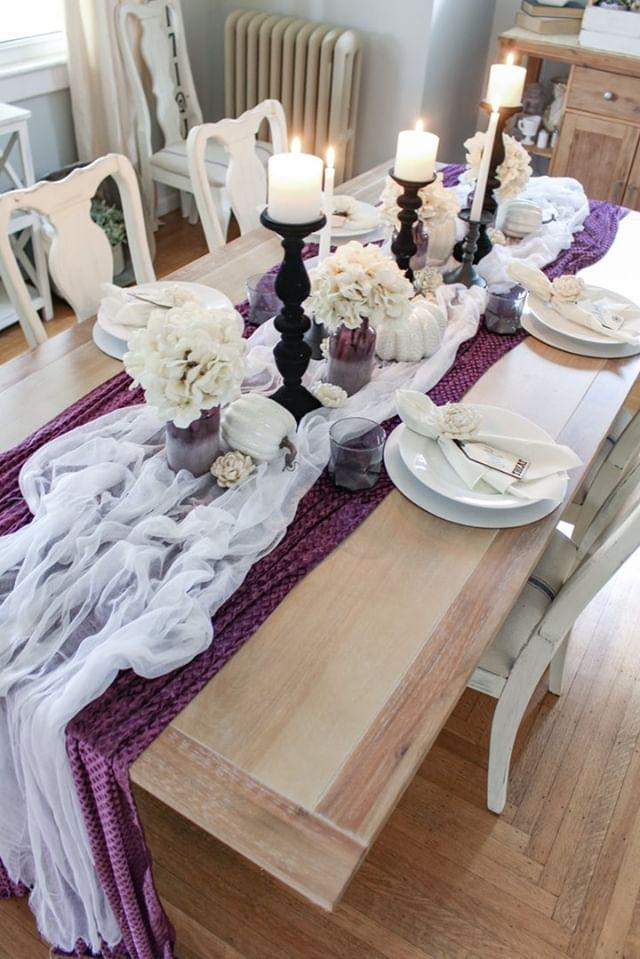 Mysterious Halloween Tablescape Halloween Decorating Ideas How to create a mysterious Halloween tablescape for your dining room Dining Table Halloween Decorations