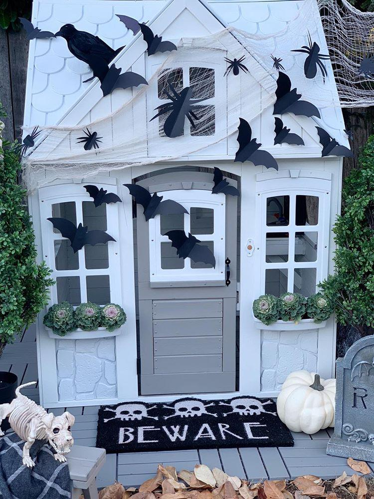 Halloween Playhouse Decorating Ideas How to Decorate Your Kids Playhouse for Halloween