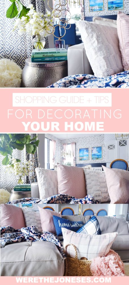 When to Splurge and When to Save SHOPPING TIPS AND GUIDE FOR DECORATING YOUR HOME Modern Living Room Feminine Chic Decor Ideas