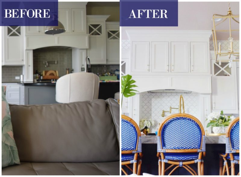 before and after kitchen modern coastal glam kitchen makeover the reveal coastal kitchen design ideas photos of coastal kitchens modern glam kitchen makeovers kitchen makeover reveal white kitchen colorful kitchen tropical kitchen glam kitchen ideas