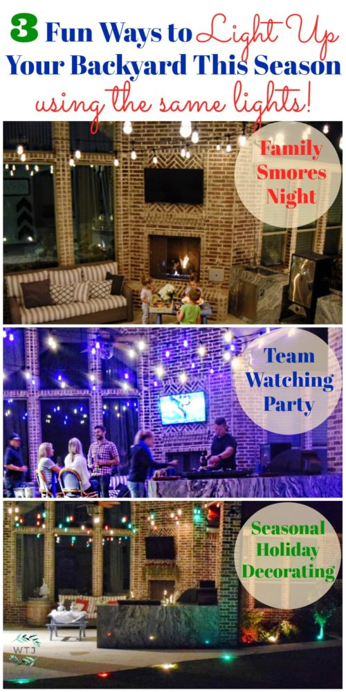 3 Fun Ways to Light Up Your Backyard This Season Enbrighten Color Changing Landscape Lights and Café Lights Christmas Lights Holiday Lights