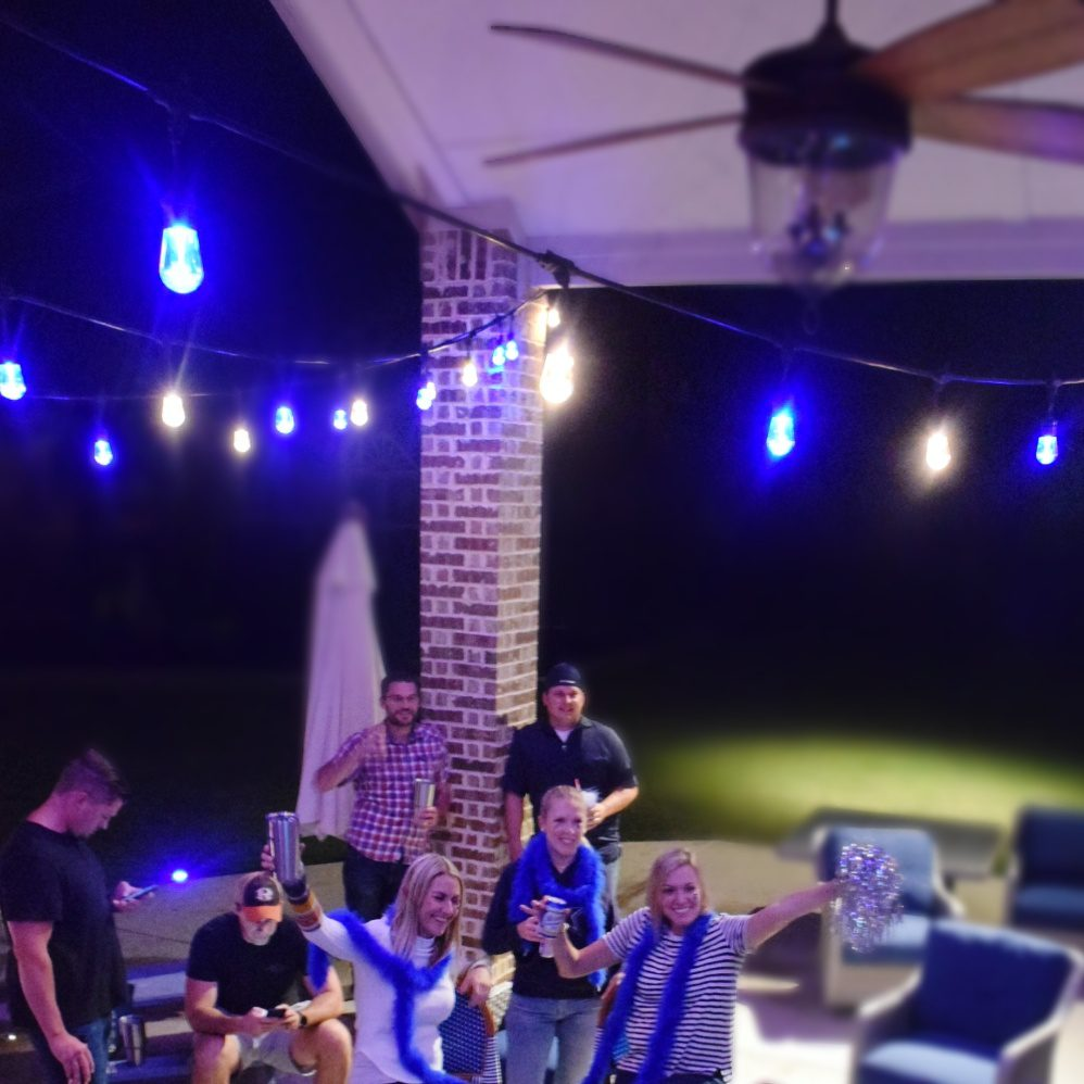 Enbrighten Color Changing Cafe Lights Outdoor String Lights Jasco Cafe Lights Team Color Lights Football Watching Party