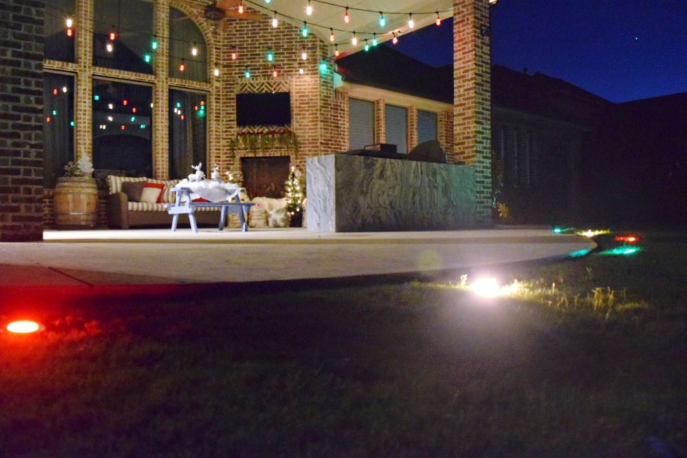 3 Fun Ways to Light Up Your Backyard This Season Enbrighten Color Changing Lights Jasco Cafe Lights Jasco Landscape Lights Christmas Lights Outdoor Decor Patio String Lights Red White Green Lights