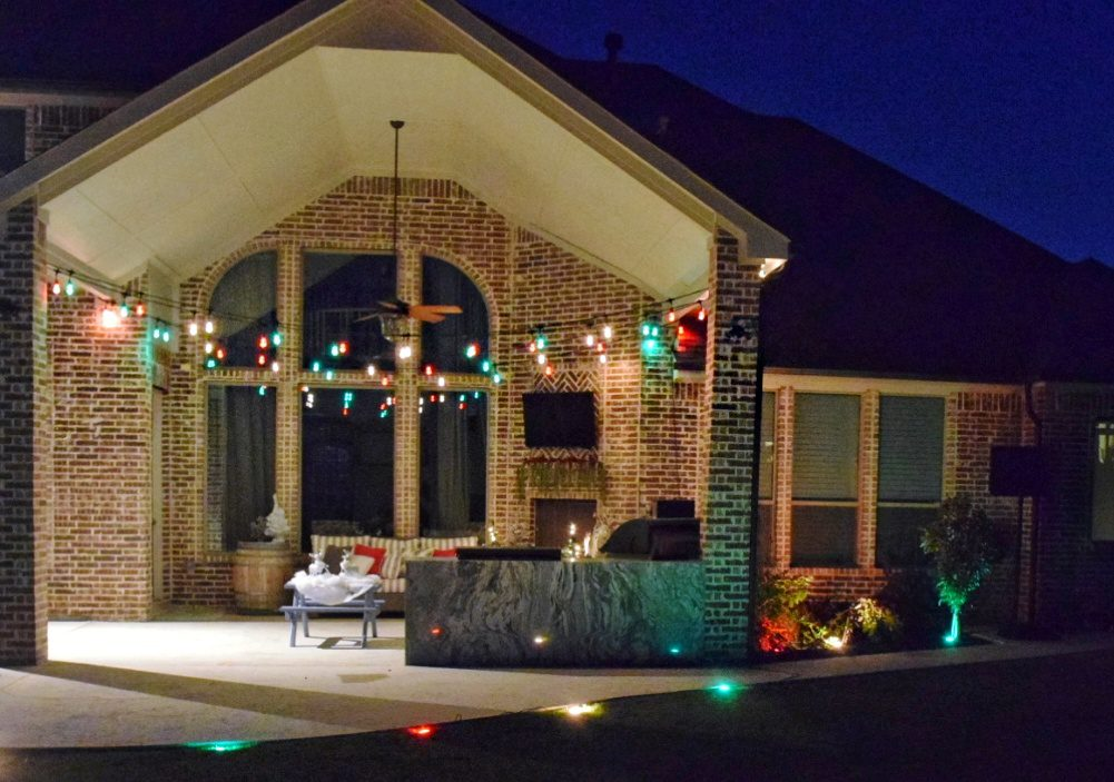 3 Fun Ways to Light Up Your Backyard This Season Enbrighten Color Changing Lights Jasco Cafe Lights Jasco Landscape Lights Christmas Lights Outdoor Holiday Lights Christmas String Lights Christmas Outdoor Decor
