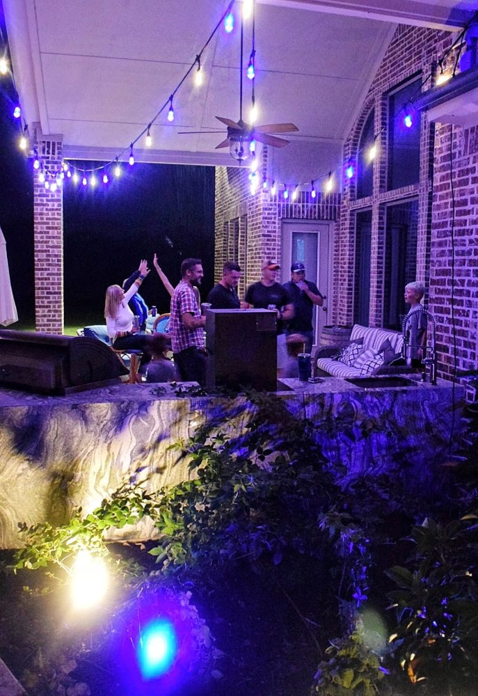Enbrighten Color Changing Cafe Lights Outdoor String Lights Jasco Cafe Lights Football Watching Party Ideas Landscape Lights Outdoor Patio Lights Change Colors