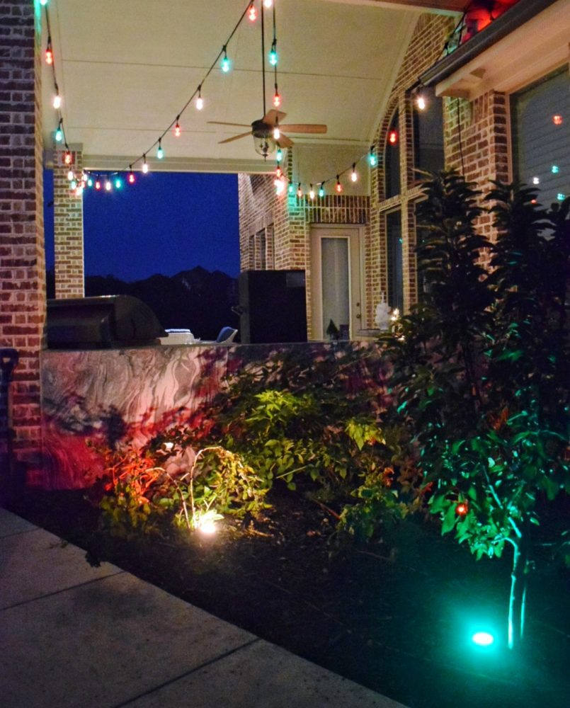 3 Fun Ways to Light Up Your Backyard This Season Enbrighten Color Changing Lights Jasco Cafe Lights Jasco Landscape Lights Christmas Lights Outdoor Holiday Lights Red Green White Christmas String Lights