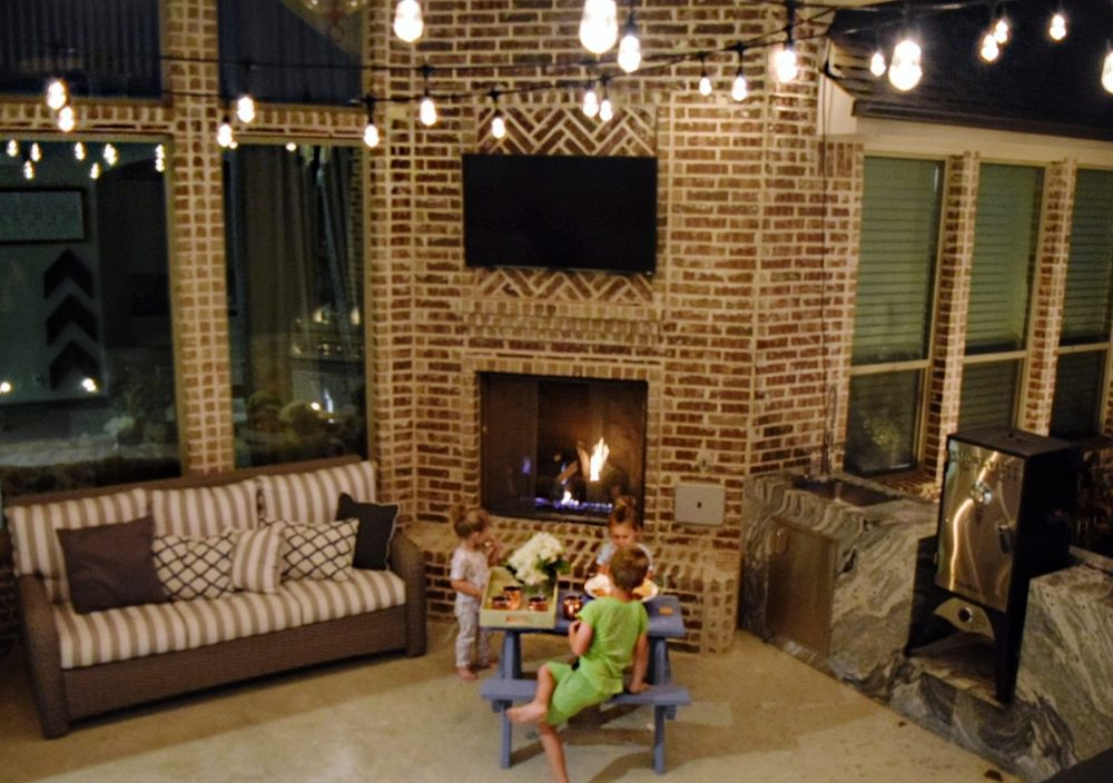 3 Fun Ways to Light Up Your Backyard This Season Enbrighten Color Changing Cafe Lights Family Smores Night Outdoor String Lights Jasco Cafe Lights Patio Lights String Lights