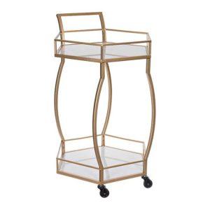 Wine Lover Gift Ideas Bar Gifts Gold Metal Rolling Hexagon Bar Cart