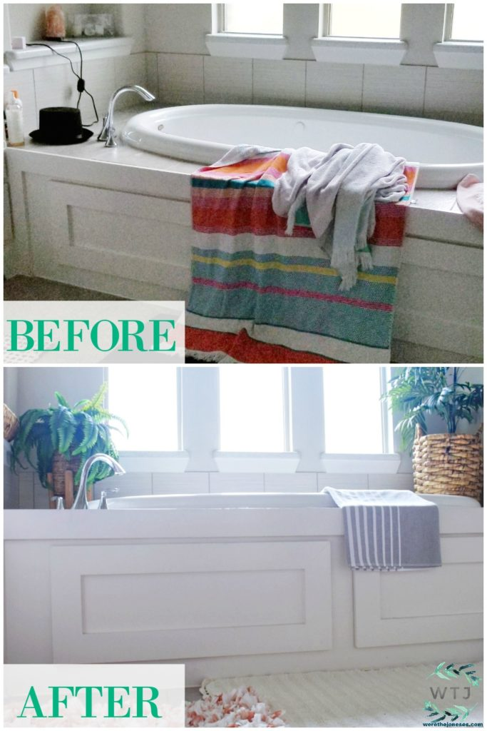 Master Bathroom Refresh Decorating Ideas On a Budget Before and After Pictures Affordable and Simple Tips for Decorating a Bathroom on a Budget