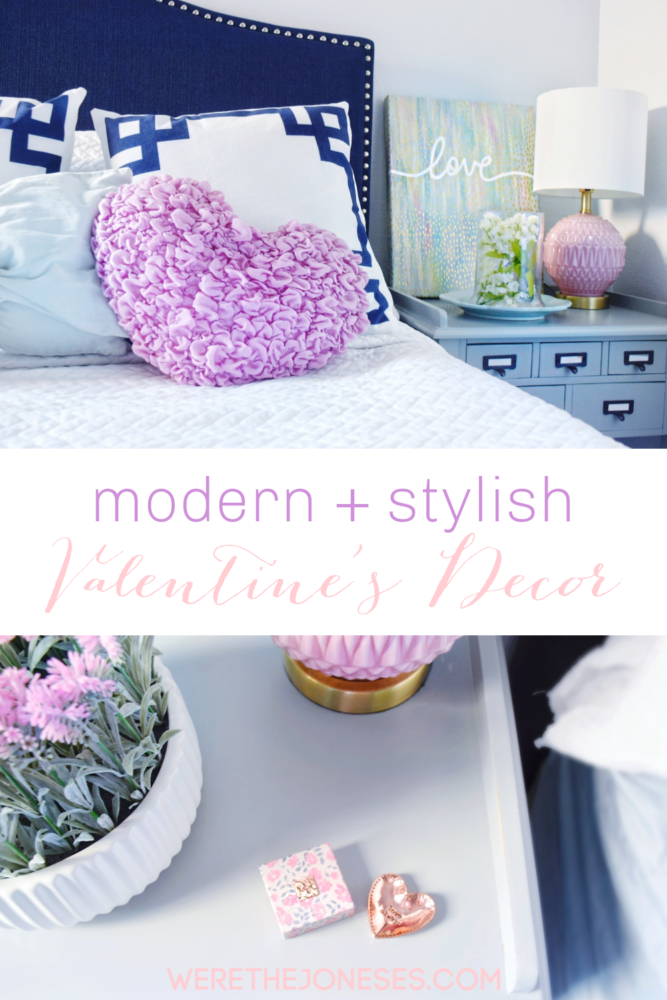 Modern Stylish Valentine's Decor for your home using unexpected valentines day color combos that aren't red + pink!